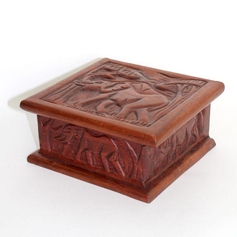 Elephant-wooden-box