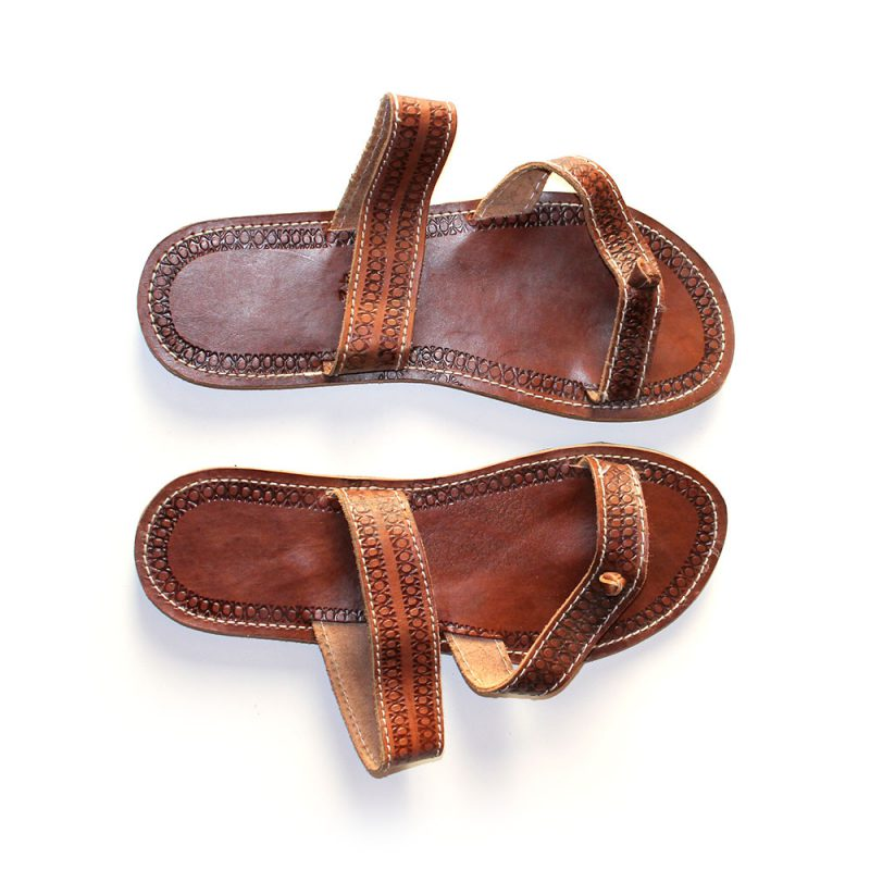 Leather-african-flipflops-Size-42-5