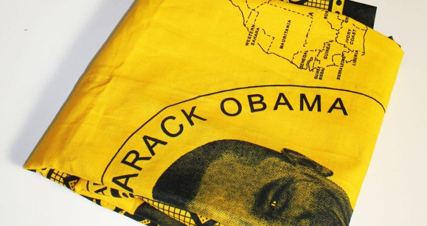 Yellow Barack Obama Kanga